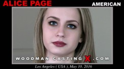 Download Alice Page casting video files. Pierre Woodman undress Alice Page, a American girl.